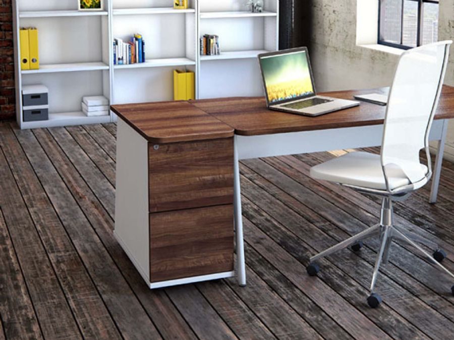 ASCEND RECTANGULAR DESK 1800 + 2 DRAWER ...