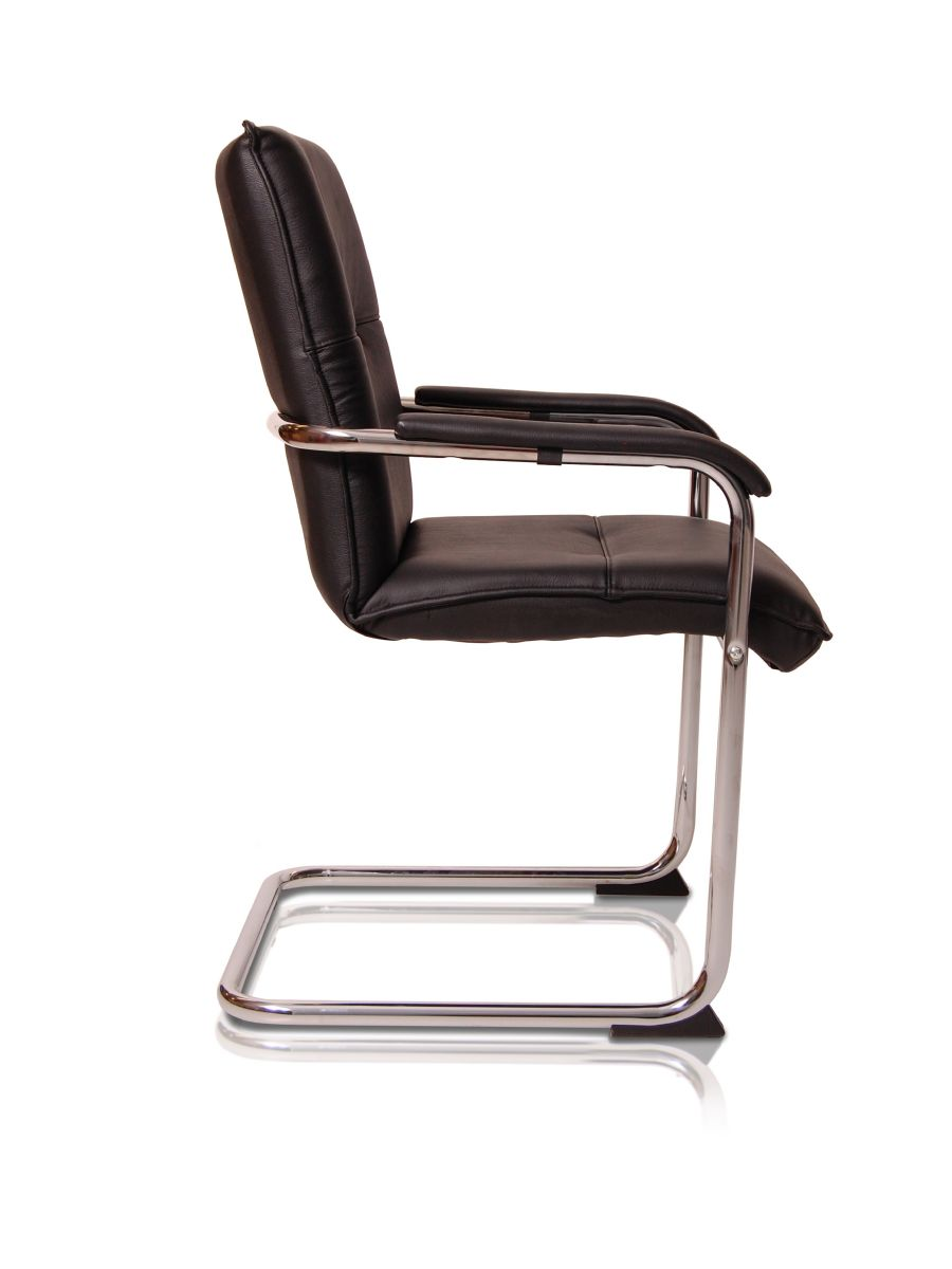 DIO BLACK CANTILEVER VISITOR CHAIR