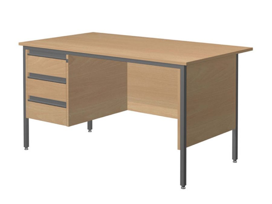 GALAXY SINGLE PEDESTAL OFFICE DESK (LH P...