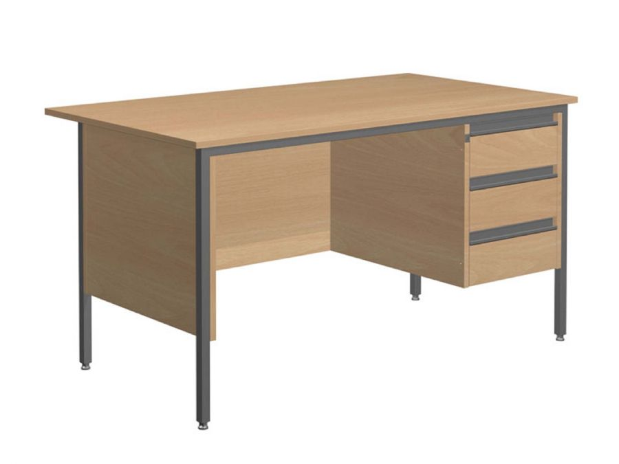 GALAXY SINGLE PEDESTAL OFFICE DESK (RH P...