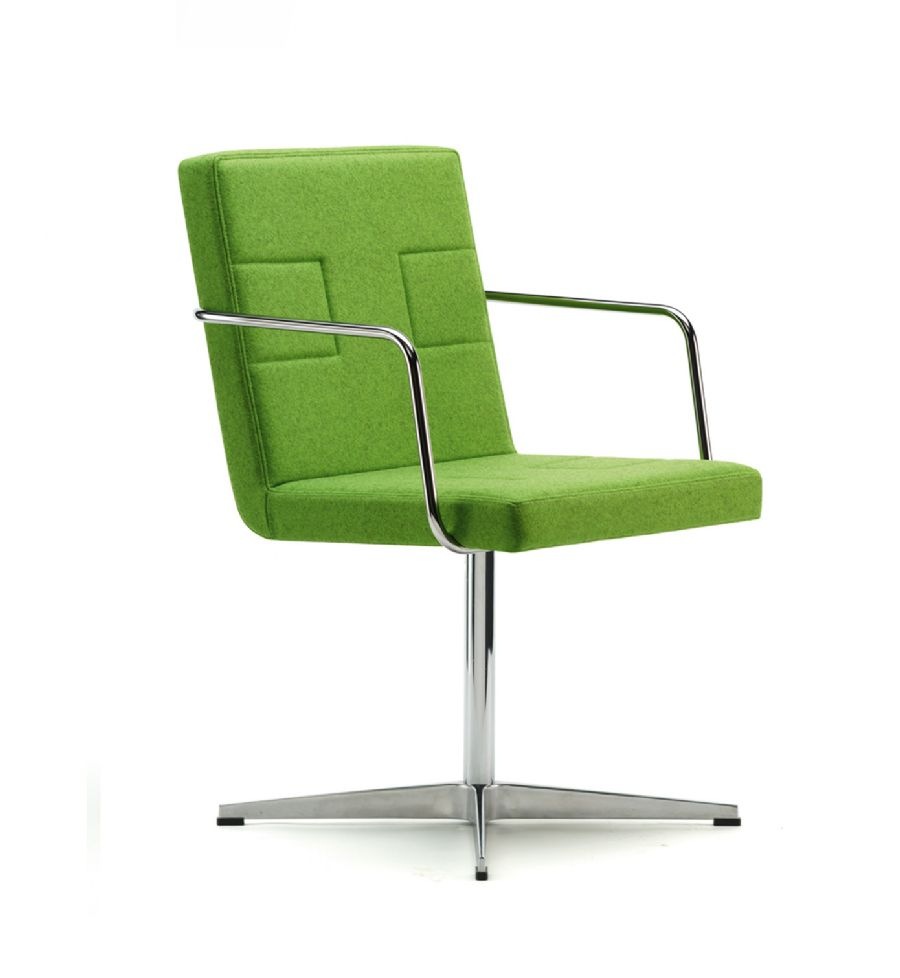 TONI SWIVEL VISITOR CHAIR WITH ARMS