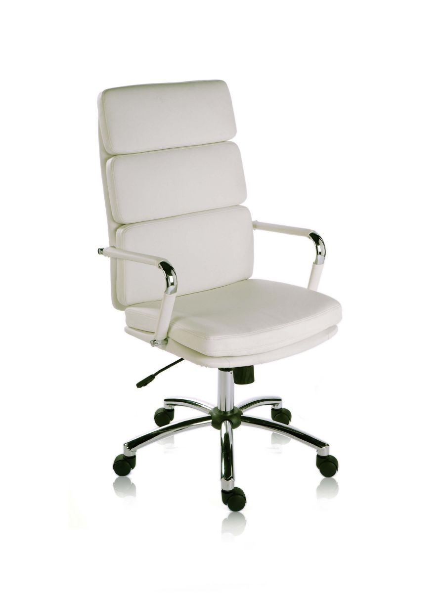 CODE WHITE RETRO SWIVEL EXECUTIVE CHAIR