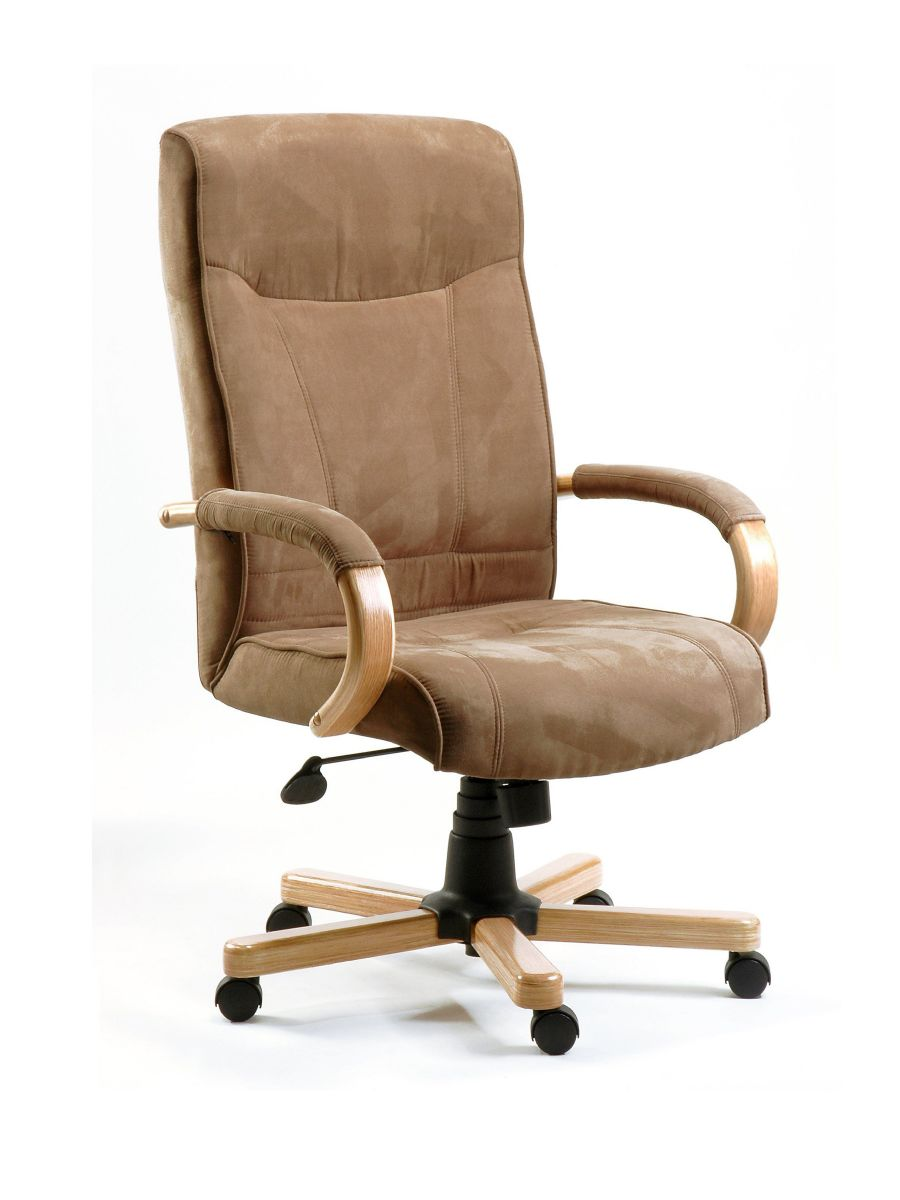 OXFORD SUEDE SWIVEL EXECUTIVE CHAIR