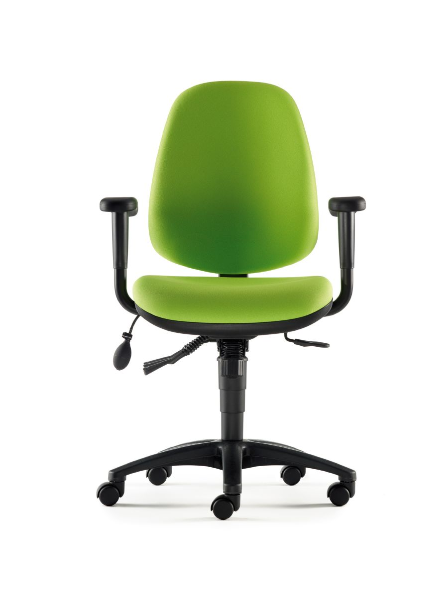 Green Office Chairs - Rola swivel office chair with arms